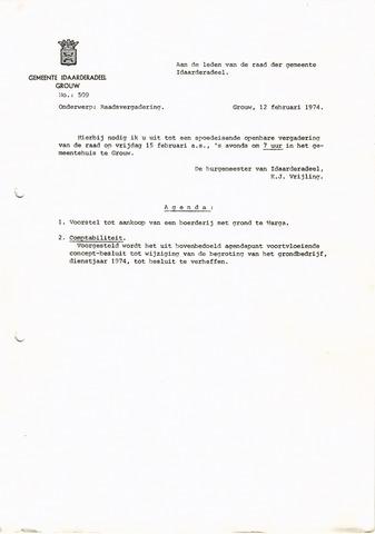 raadsverslagen Idaarderadeel 1935-1983 1974-02-15