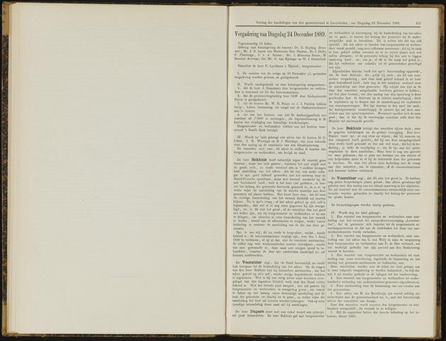 Raadsverslagen van de gemeente Leeuwarden, 1865-2007 (Notulen) 1889-12-24