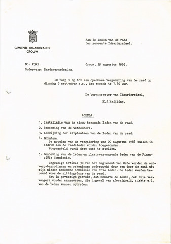 raadsverslagen Idaarderadeel 1935-1983 1966-09-06