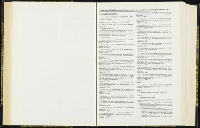 Raadsverslagen van de gemeente Leeuwarden, 1865-2007 (Notulen) 1962-09-19