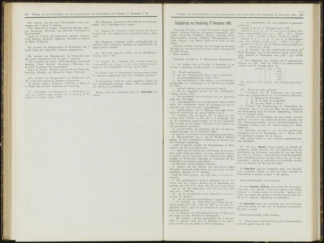 Raadsverslagen van de gemeente Leeuwarden, 1865-2007 (Notulen) 1906-12-27