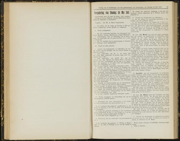 Raadsverslagen van de gemeente Leeuwarden, 1865-2007 (Notulen) 1901-05-28