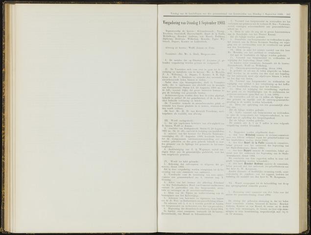 Raadsverslagen van de gemeente Leeuwarden, 1865-2007 (Notulen) 1903-09-01