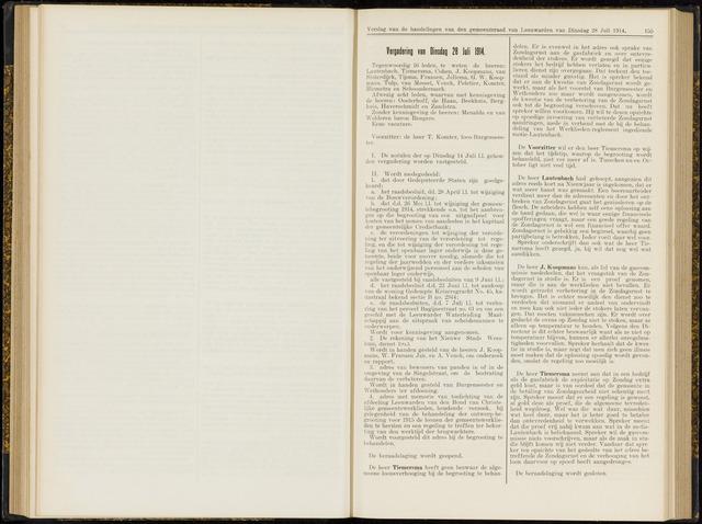 Raadsverslagen van de gemeente Leeuwarden, 1865-2007 (Notulen) 1914-07-28