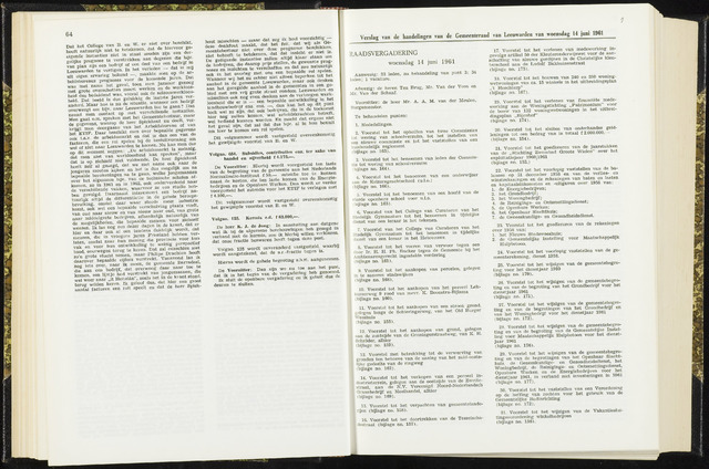 Raadsverslagen van de gemeente Leeuwarden, 1865-2007 (Notulen) 1961-06-14