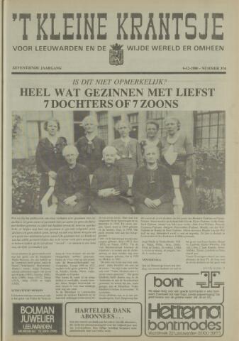 't Kleine Krantsje, 1964-1997 1980-12-06