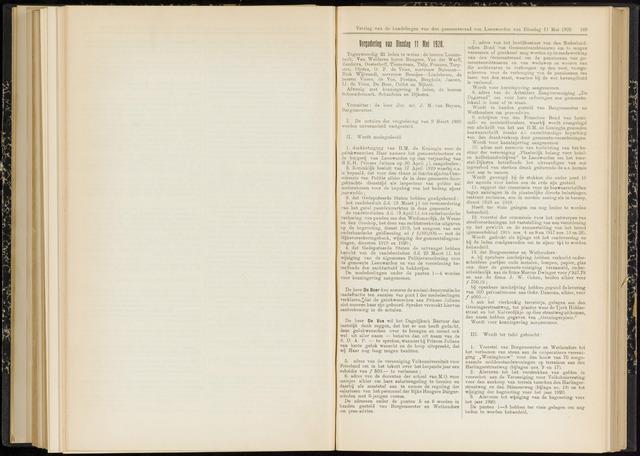 Raadsverslagen van de gemeente Leeuwarden, 1865-2007 (Notulen) 1920-05-11