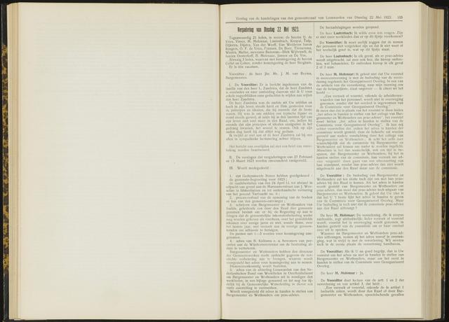 Raadsverslagen van de gemeente Leeuwarden, 1865-2007 (Notulen) 1923-05-22