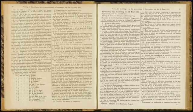 Raadsverslagen van de gemeente Leeuwarden, 1865-2007 (Notulen) 1885-03-26