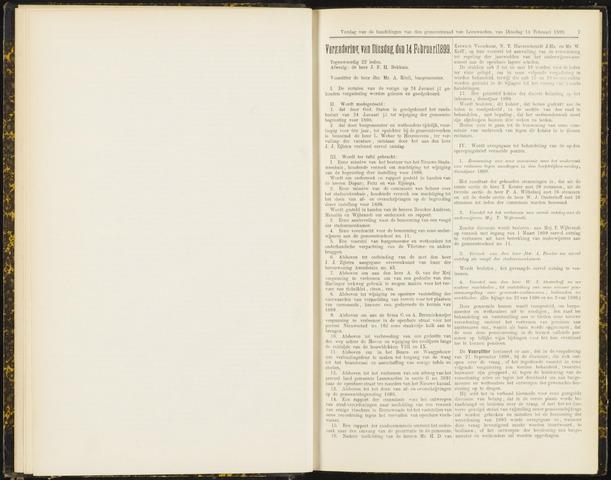 Raadsverslagen van de gemeente Leeuwarden, 1865-2007 (Notulen) 1899-02-14