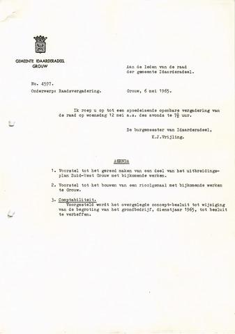 raadsverslagen Idaarderadeel 1935-1983 1965-05-12