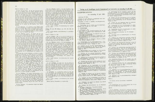 Raadsverslagen van de gemeente Leeuwarden, 1865-2007 (Notulen) 1963-07-10
