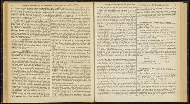 Raadsverslagen van de gemeente Leeuwarden, 1865-2007 (Notulen) 1884-04-12