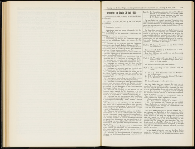 Raadsverslagen van de gemeente Leeuwarden, 1865-2007 (Notulen) 1936-04-28