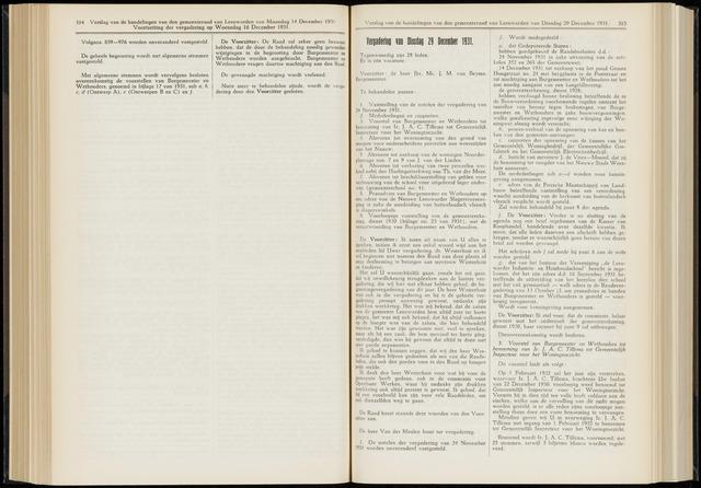 Raadsverslagen van de gemeente Leeuwarden, 1865-2007 (Notulen) 1931-12-29