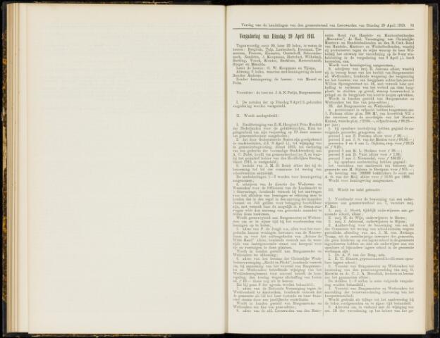 Raadsverslagen van de gemeente Leeuwarden, 1865-2007 (Notulen) 1913-04-29