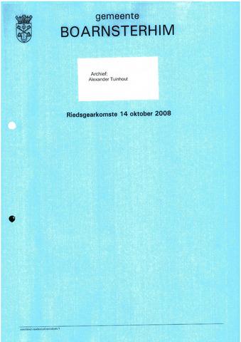 Boarnsterhim vergaderstukken gemeenteraad  2008-10-14