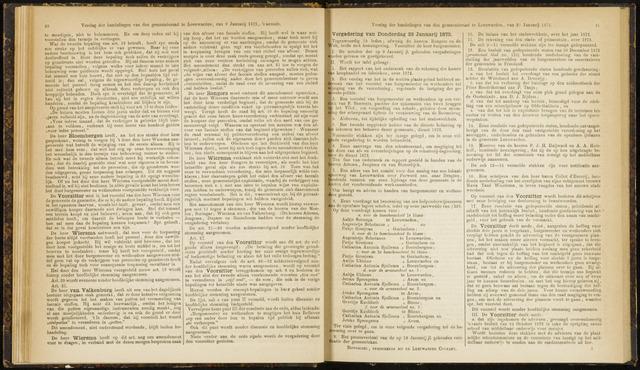 Raadsverslagen van de gemeente Leeuwarden, 1865-2007 (Notulen) 1873-01-23