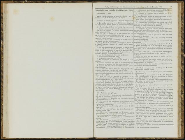 Raadsverslagen van de gemeente Leeuwarden, 1865-2007 (Notulen) 1886-12-14