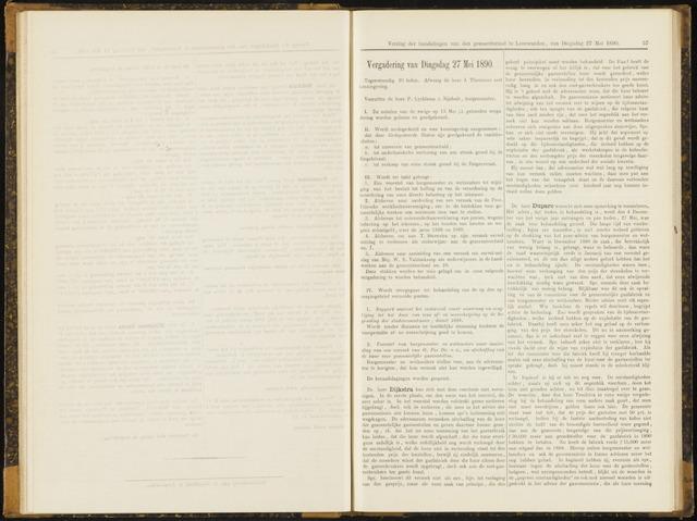 Raadsverslagen van de gemeente Leeuwarden, 1865-2007 (Notulen) 1890-05-27