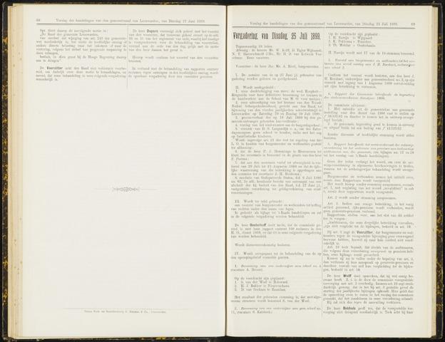 Raadsverslagen van de gemeente Leeuwarden, 1865-2007 (Notulen) 1899-07-25