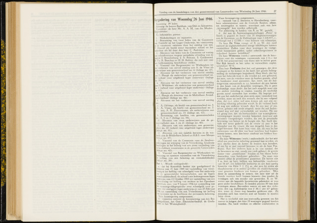 Raadsverslagen van de gemeente Leeuwarden, 1865-2007 (Notulen) 1946-06-26