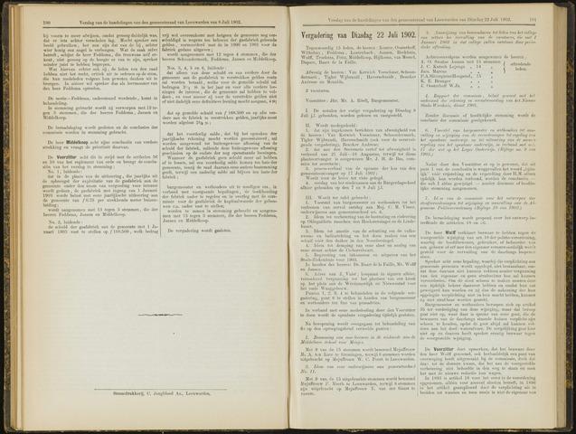 Raadsverslagen van de gemeente Leeuwarden, 1865-2007 (Notulen) 1902-07-22