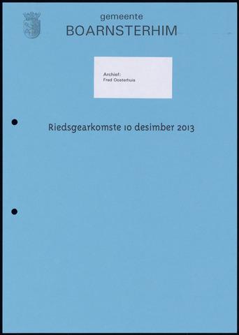 Boarnsterhim vergaderstukken gemeenteraad  2013-12-10