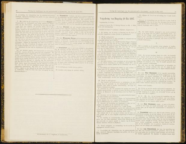 Raadsverslagen van de gemeente Leeuwarden, 1865-2007 (Notulen) 1887-05-10