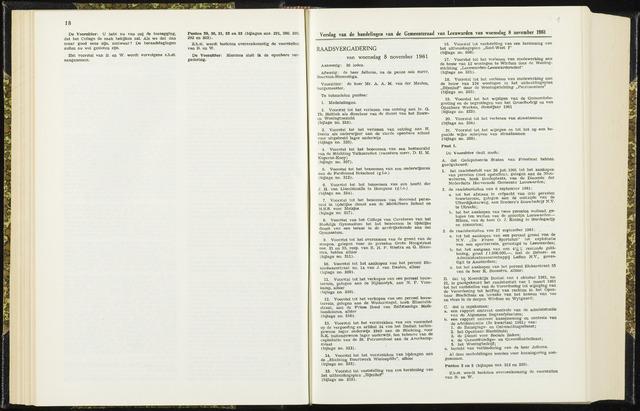 Raadsverslagen van de gemeente Leeuwarden, 1865-2007 (Notulen) 1961-11-08