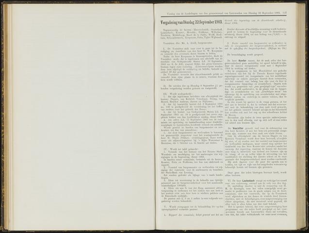 Raadsverslagen van de gemeente Leeuwarden, 1865-2007 (Notulen) 1903-09-22