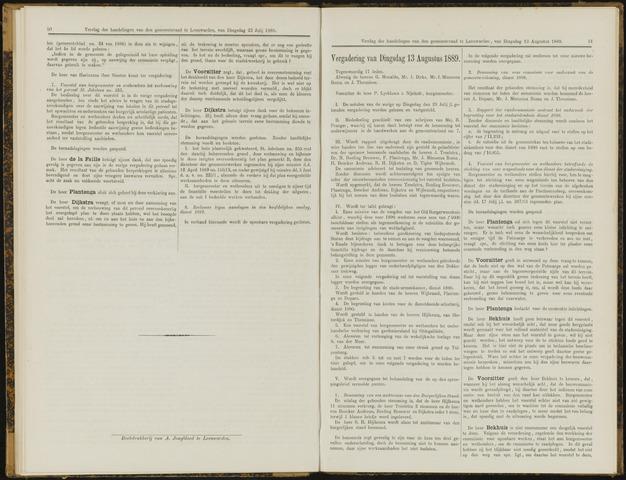 Raadsverslagen van de gemeente Leeuwarden, 1865-2007 (Notulen) 1889-08-13