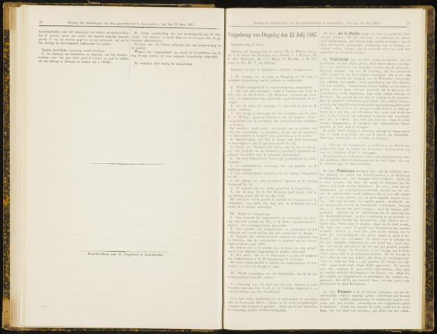 Raadsverslagen van de gemeente Leeuwarden, 1865-2007 (Notulen) 1887-07-12