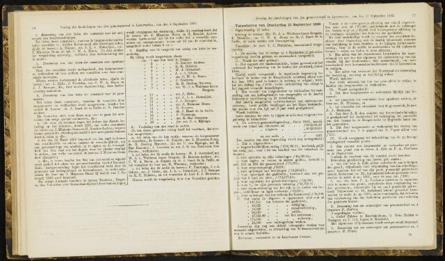 Raadsverslagen van de gemeente Leeuwarden, 1865-2007 (Notulen) 1883-09-13