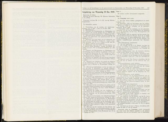 Raadsverslagen van de gemeente Leeuwarden, 1865-2007 (Notulen) 1949-12-28