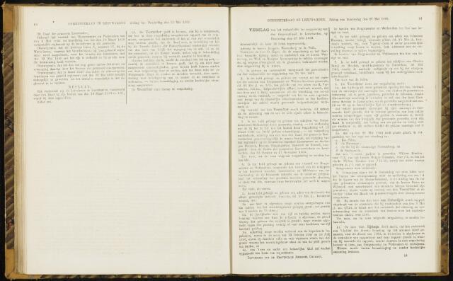Raadsverslagen van de gemeente Leeuwarden, 1865-2007 (Notulen) 1869-05-27