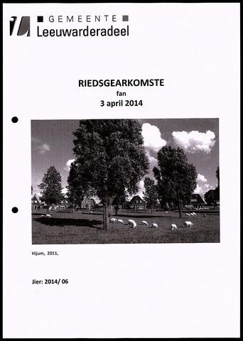 Notulen van de gemeenteraad van Leeuwarderadeel 2014-04-03