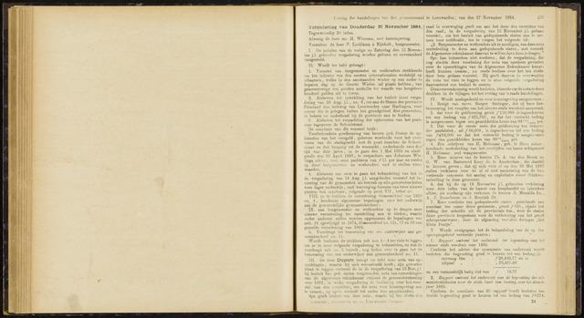 Raadsverslagen van de gemeente Leeuwarden, 1865-2007 (Notulen) 1884-11-27