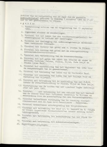 Notulen van de gemeenteraad van Leeuwarderadeel 1966-11-07