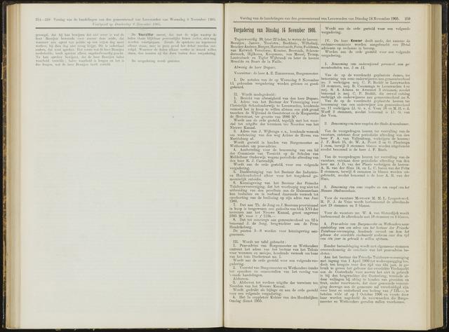 Raadsverslagen van de gemeente Leeuwarden, 1865-2007 (Notulen) 1905-11-14