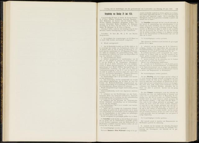 Raadsverslagen van de gemeente Leeuwarden, 1865-2007 (Notulen) 1926-06-29