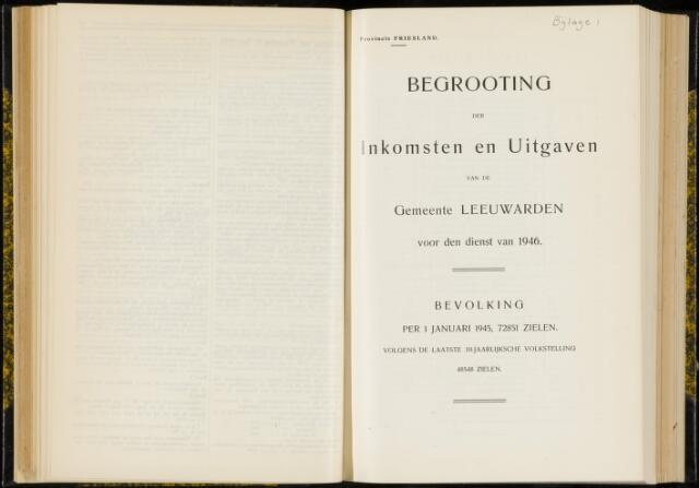 Raadsverslagen van de gemeente Leeuwarden, 1865-2007 (Bijlagen) 1946-01-01