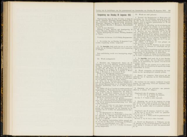 Raadsverslagen van de gemeente Leeuwarden, 1865-2007 (Notulen) 1913-08-26
