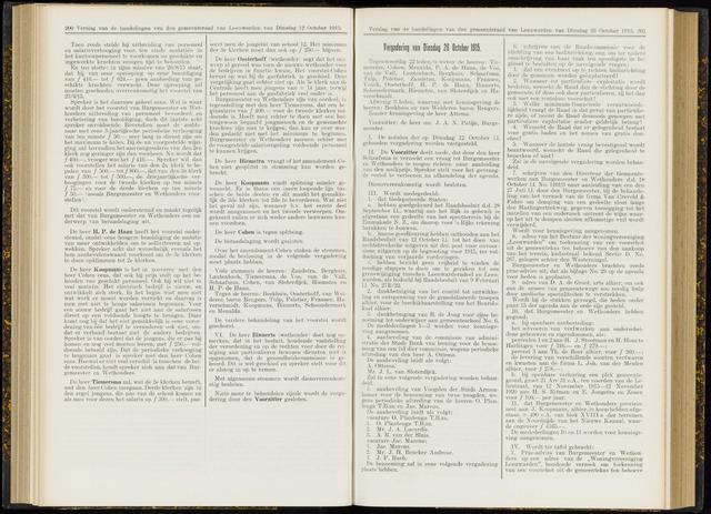 Raadsverslagen van de gemeente Leeuwarden, 1865-2007 (Notulen) 1915-10-26