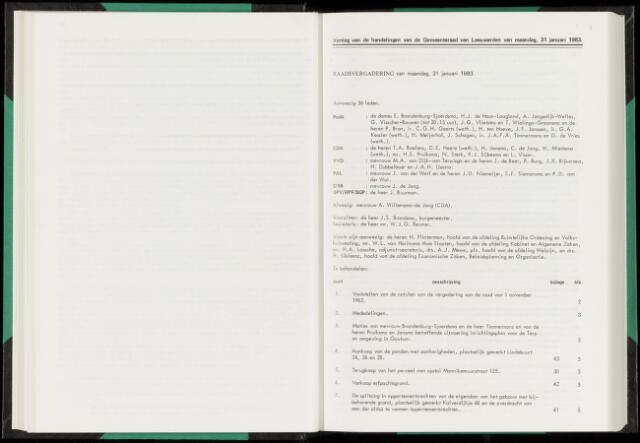 Raadsverslagen van de gemeente Leeuwarden, 1865-2007 (Notulen) 1983-01-31