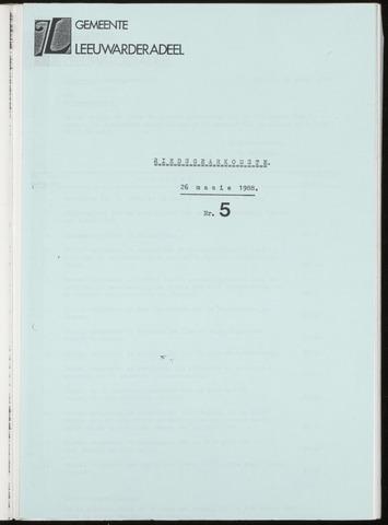 Notulen van de gemeenteraad van Leeuwarderadeel 1988-05-26