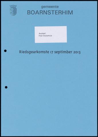 Boarnsterhim vergaderstukken gemeenteraad  2013-09-17