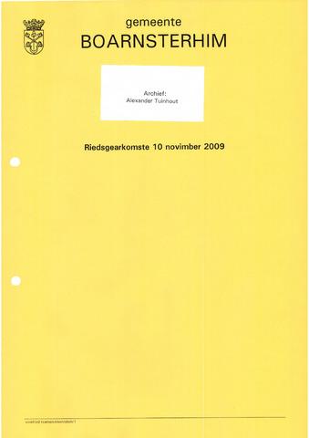 Boarnsterhim vergaderstukken gemeenteraad  2009-11-10