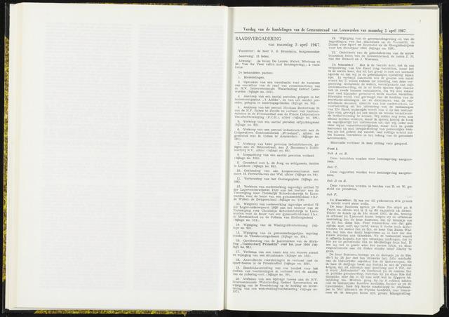 Raadsverslagen van de gemeente Leeuwarden, 1865-2007 (Notulen) 1967-04-03