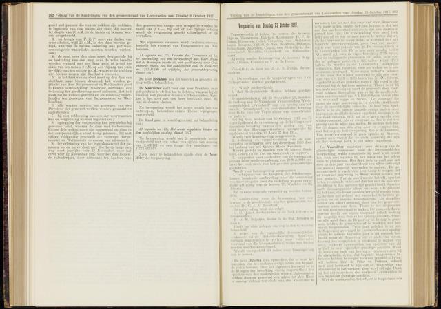 Raadsverslagen van de gemeente Leeuwarden, 1865-2007 (Notulen) 1917-10-23